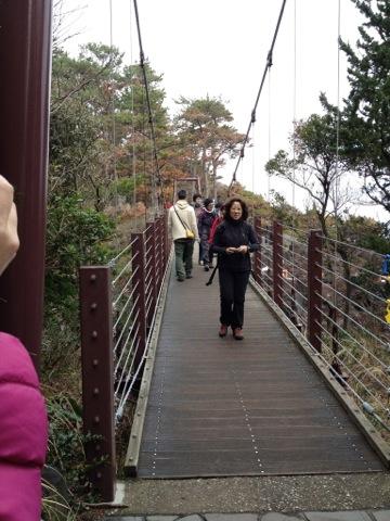 名物のつり橋