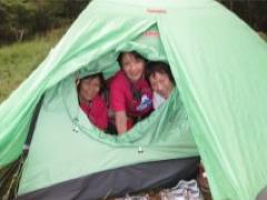 テント泊の笑顔