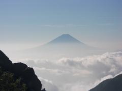 富士山がきれいに姿を見せた