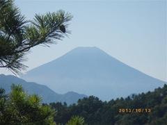 迫る富士山