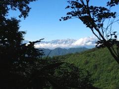 白馬三山を眺める